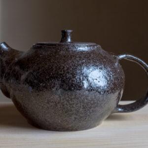 81 - Teapot, 700ml, Gornji grad red clay and tuff sand, Puconci slilica sand + Gornji Grad black glaze, 120eur