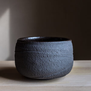 1 - Chawan, 400ml, Black clay and Gornji Grad black glaze, 60eur