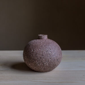36 - vase, small, Gornji grad red clay and tuff sand, Puconci slilica sand, 26eur