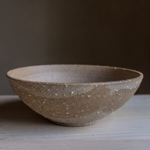40 - bowl, medium size, Recycled clays, Straža galaxy sand + light coloured slip, 35eur