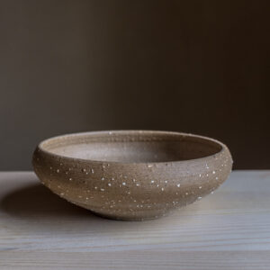 43 - Iron age Celtic bowl, medium size, Recycled clays, Straža galaxy sand + light coloured slip, 35eur