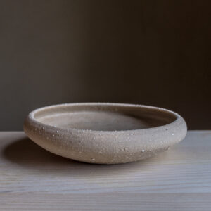 49 - Iron age Celtic bowl, medium size, Recycled clays, Straža galaxy sand, 35eur