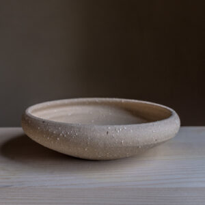 50 - Iron age Celtic bowl, medium size, Recycled clays, Straža galaxy sand, 35eur
