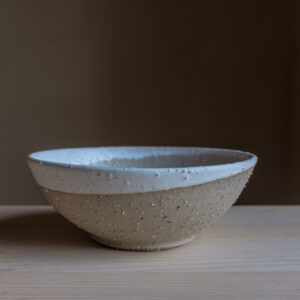 52 - Bowl, medium size, Recycled clays, Markovo feldspatic sand + white mat glaze, 35eur