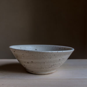 53 - Bowl, medium size, Primary light kaolins with Straža galaxy clay sand, + satin glaze, 35eur