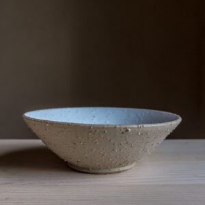 54 - Bowl, medium size, Recycled clays, Markovo feldspatic sand + white mat glaze, 35eur