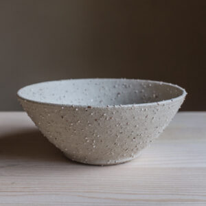 80 - Bowl, Medium size, recycled clays + satin glaze, Markovo feldspatic sand, 30eur